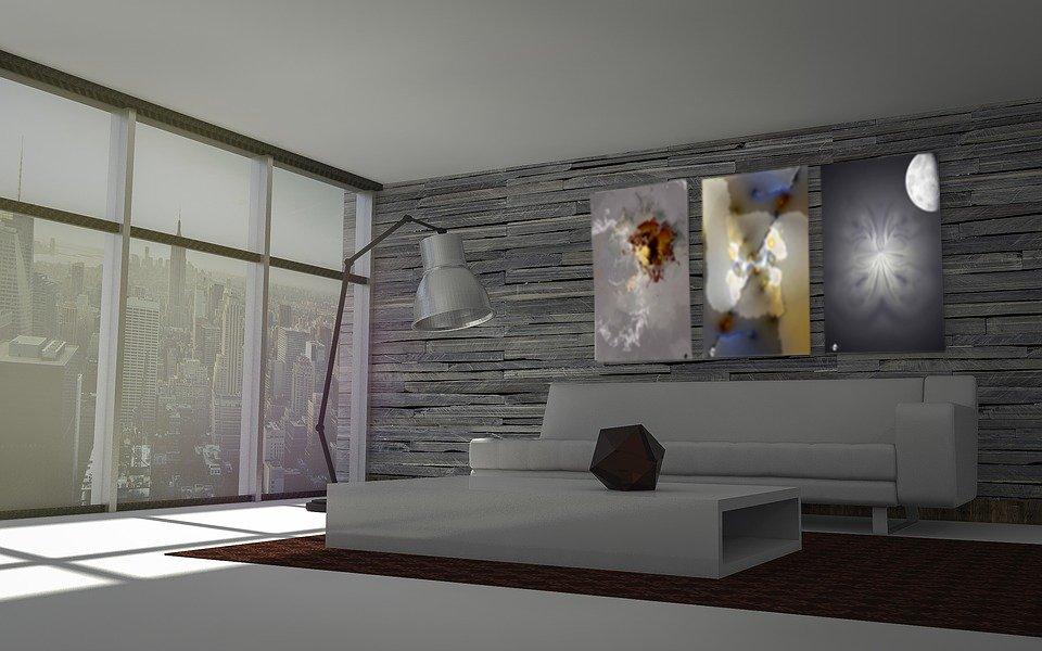 Salon décoration avec tableau Cartsandra B